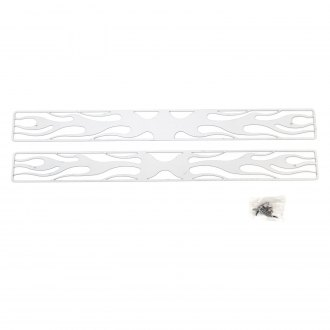 Putco® - 2-Pc Flaming Inferno Style Polished CNC Machined Main Grille
