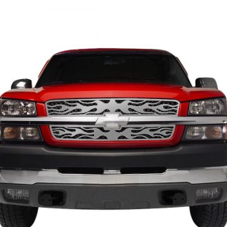 Putco® - 1-Pc Flaming Inferno Style Polished CNC Machined Grille