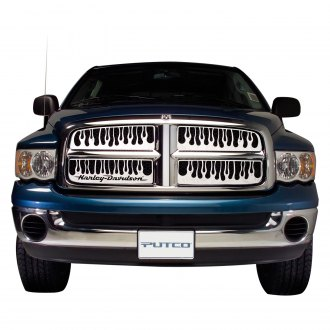 Putco® - 1-Pc Flaming Inferno Style Polished CNC Machined Main Grille