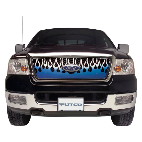 Putco® - Flaming Inferno Style Blue CNC Machined Main Grille