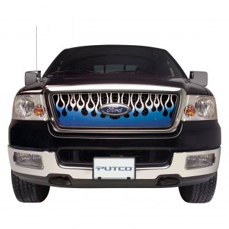 Putco® - Flaming Inferno Style Blue CNC Machined Grille