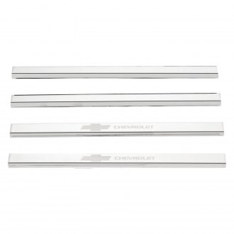 Putco® - GM Licensed Polished Door Sills with Chevrolet Etching