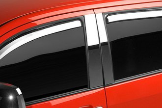 Image may not reflect your exact vehicle! Putco® - In-Channel Element Chrome Front and Rear Window Visors
