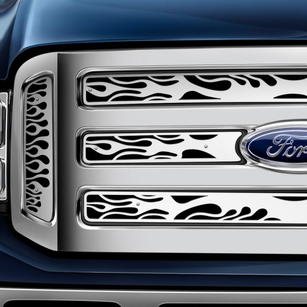 Putco® - Flaming Inferno Stainless Steel Grille Insert
