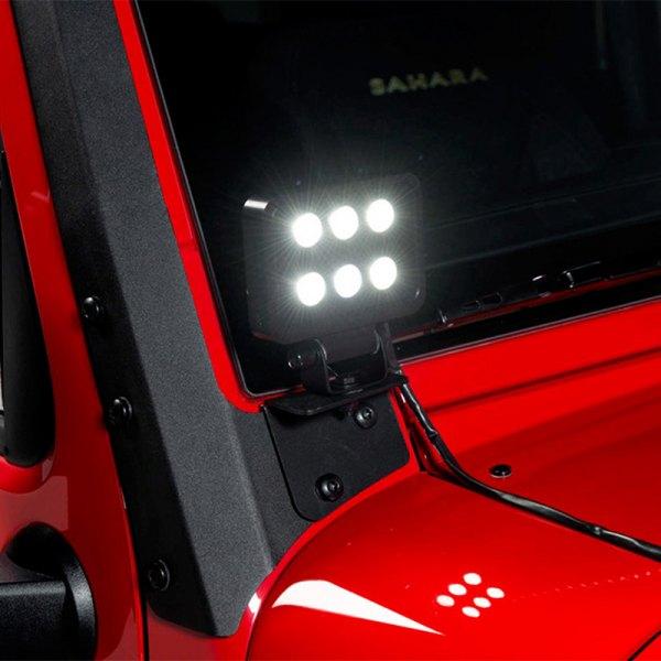 putco jeep wrangler 2009 4 luminix high power led. Black Bedroom Furniture Sets. Home Design Ideas
