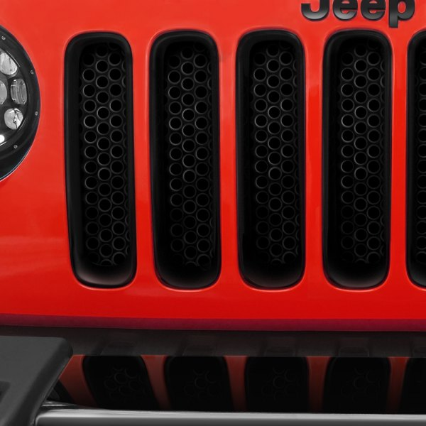 Putco® - Black Powder Coated Round Punch CNC Machined Main Grille