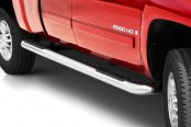 "Image may not reflect your exact vehicle!Putco® - 4"" Cab Length Stainless Steel Round Boss Bars"