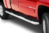 "Image may not reflect your exact vehicle!Putco® - 4"" Wheel-to-Wheel Stainless Steel Round Boss Bars"