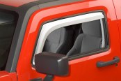 Putco® Element Chrome Window Visors - Front Set