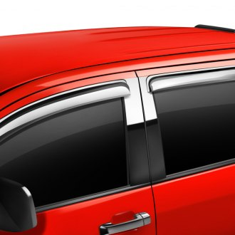 Putco® - Tape-On Element Chrome Front and Rear Window Visors