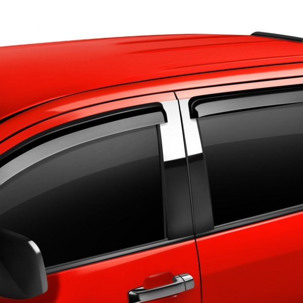 Image may not reflect your exact vehicle! Putco® - Tape-On Element Tinted Window Visors