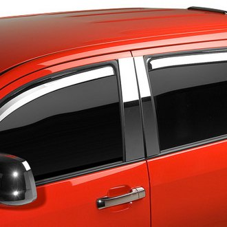 Image may not reflect your exact vehicle!Putco® - Element Front and Rear Chrome Window Visors