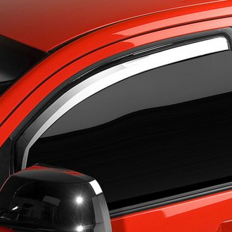Putco® - In-Channel Element Chrome Front Window Visors