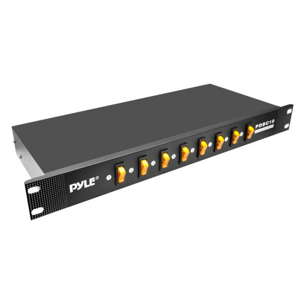 Pyle® - 8 Outlet Rack Mount Power Supply Center