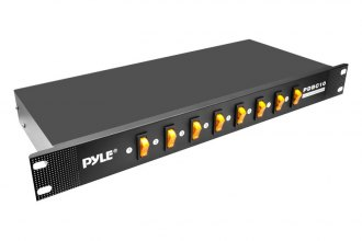 Pyle® - 8 Outlet Rack Mount Power Supply Center with Each Outlet Switch