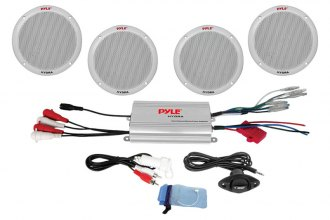 "Pyle® - Marine 4-Channel Waterproof MP3/iPod Power Amplifier with 6.5"" Speaker System"