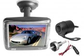 "Pyle® - 3.5"" Window Suction Mount Slim TFT Monitor with Dual Mount Night Vision Rear View Back Up Camera"