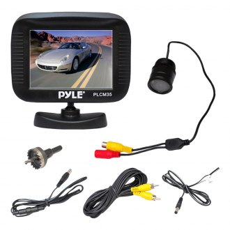 "Pyle® - 3"" LCD Color Monitor with Rearview Flush Mount Back Up Camera"