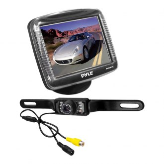 "Pyle® - 3.5"" Slim TFT Monitor with Rear View Night Vision Back Up Camera"