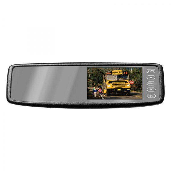 Pyle® - Rear View Mirror with Built-In 4.3'' TFT Touch Screen Monitor and Wireless Back-Up Camera System