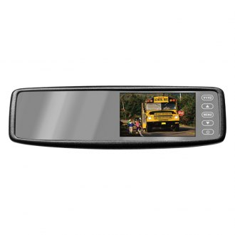 "Pyle® - Rear View Mirror with 4.3"" TFT Touch Screen Monitor and Wireless Back-Up Camera System"