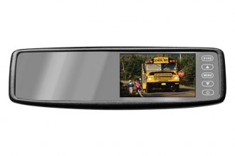 Pyle® - Rear View Mirror with 4.3'' TFT Touch Screen Monitor and Wireless Back-Up Camera System