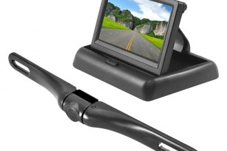 Pyle® - 4.3'' Pop-Up Stealth Monitor with License Plate Motion Back Up Camera System