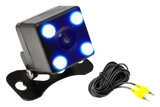 Pyle® - Night Vision Rear View Camera with 4 LED Lights and Distance Scale Lines