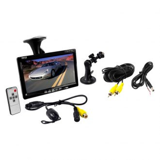 "Pyle® - 7"" Window Suction Mount TFT Video Monitor with Rear View Back Up Camera and Distance Scale Line"