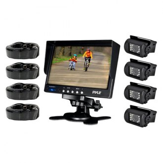 "Pyle® - 7"" LCD Color Monitor with Weatherproof Rearview Back Up Camera with 4 Back Up Cameras"