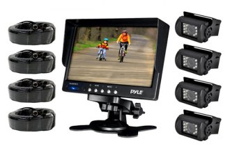 "Pyle® - 7"" LCD Color Monitor with Weatherproof Rearview Backup Camera with 4 Backup Cameras"