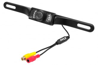Pyle® - License Plate Mount Rear View Night Vision Back Up Camera