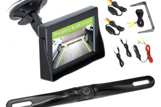 "Pyle® - Rear View Mirror with 4.3"" TFT Monitor and Wireless Back-Up Slim Bar Style Camera System"