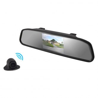"Pyle® - Rear View Mirror with 4.3"" TFT Monitor and Wireless Back-Up Camera"
