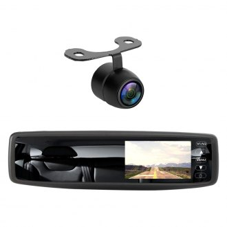 "Pyle® - Wireless Rear View Mirror with Built-in 4.3"" Touchscreen Monitor and Surface Mount Rear View Camera"