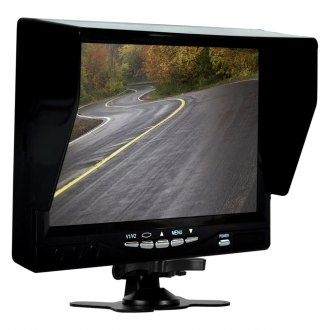 "Pyle® - Rear View System with 7"" Monitor and 2 Dash Camera/Top License Plate Mount Rear View Camera"
