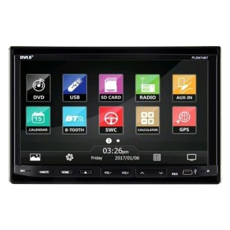 "Pyle® - Double DIN DVD/CD/AM/FM/MP3/MP4/AVI Receiver with Motorized 7"" Touchscreen Display Built-In Bluetooth"