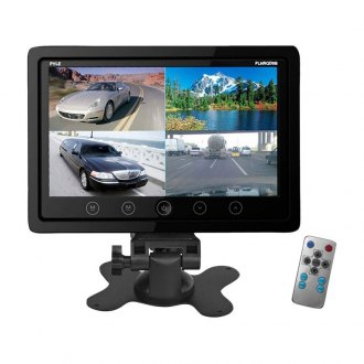 "Pyle® - 9"" Monitor with Built-In Quad Control Box Screen Function"