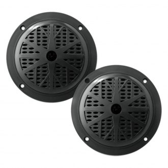 "Pyle® - 4"" 2-Way 100W Black Marine Flush Speakers, 1 Pair"