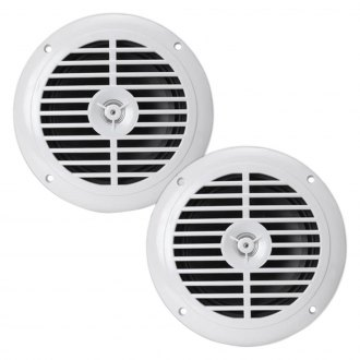 "Pyle® - 6-1/2"" 2-Way 150W White Marine Flush Speakers, 1 Pair"