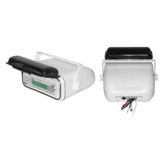 Pyle® - White Marine Radio Housing