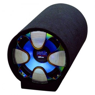 "Pyle® - 10"" Blue Wave Series Single Ported Powered 500W Subwoofer Tube"