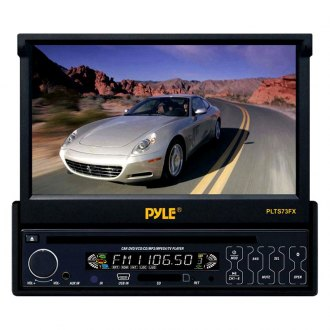 "Pyle® - Single DIN DVD/CD/AM/FM/MP3/MP4/AVI/WAV Receiver with 7"" Motorized Touchscreen Display"