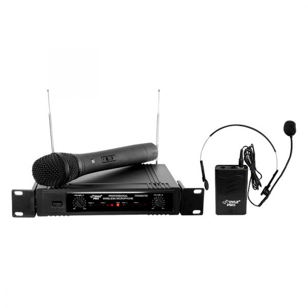 Pyle® - 2-Channels VHF Wireless Microphone