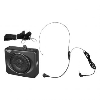 Pyle® - 50W USB Waist-Band Black Portable Pa System