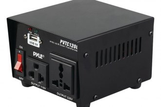 Pyle® - Step Up and Step Down Voltage Converter Transformer with USB Charging Port