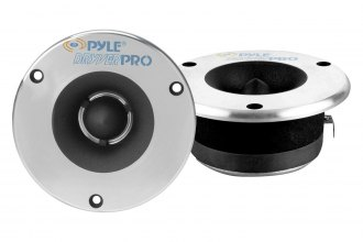 "Pyle® - 3-3/4"" Aluminum Bullet Titanium Horn Tweeters with Diamond Chrome Cutting Finish"