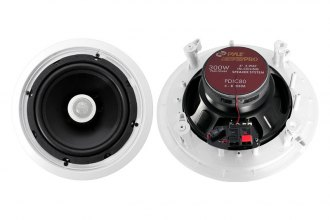 "Pyle® - 8"" 2-Way In-Ceiling 300W Speaker System with Titanium Dome Tweeter"