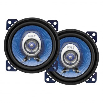"Pyle® - 4"" 2-Way Blue Poly Injection Cone 180W Speakers Systems"