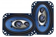 "Pyle� - 4""x6"" 240W Blue Poly Injection Cone 3-Way Speakers"